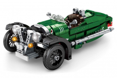 Sembo Kelmmbausteine Oldtimer Cabrio 3 Rad in grün - 487 Teile