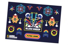 TBS Team Black Sheap Aufkleber/Sticker Bogen V8