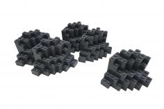 Felsen rock panel 8 x 8 x 6 Medium Symmetrisch in Dunkel Grau 5 Stück