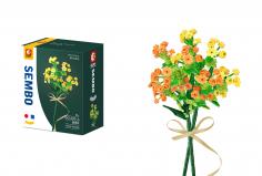 Sembo Klemmbausteine Blumen - Sommerblume in gelb