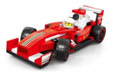 Wange Klemmbausteine Roter Rennwagen - 143 Teile