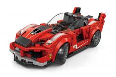 Wange Klemmbausteine Sportwagen Rot - 184 Teile