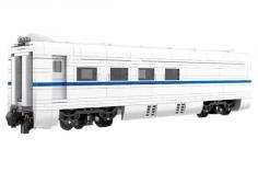 Mould King Klemmbausteine Wagon für den weißen Hochgeschwindigkeitszug inklusive 8 geraden Schienen - 838 Teile